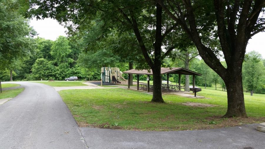 Campgound playground and Pavilion