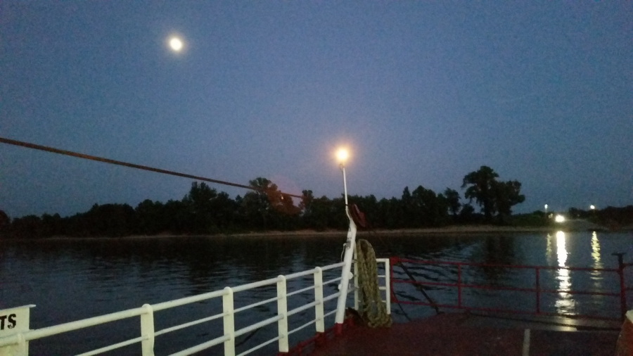 Moonlight view from the Ferry at Cave in Rock IL