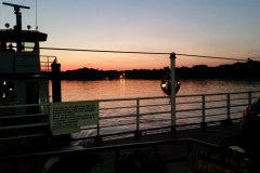 Twilight view from the Ferry at Cave in Rock IL