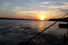 Sunset view from the Ferry at Cave in Rock IL