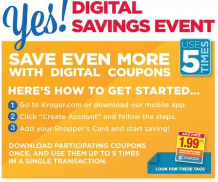 Digital coupons load kroger card