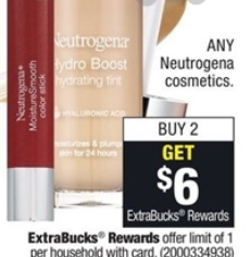 High Value: $4/1 Neutrogena Cosmetics Face product & $2.50/1 Lip or Eye Product