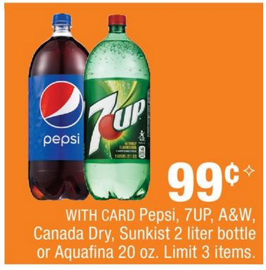 55 2 sunkist soda a w 7up canada dry or sun drop 2 liters or 6