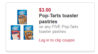 photograph relating to Pop Tarts Coupons Printable identified as $3 off 5 Pop Tart Toaster Pastries (8 Rely or much larger