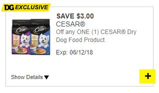 photo relating to Caesars Dog Food Printable Coupons called $3 off A person Cesar Dry Puppy Food items! (Greenback Over-all Electronic
