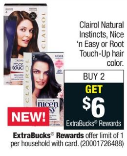 New Coupon For 3 50 Off One Box Of Clairol Natural Instincts Hair Color Two Better Than Free At Cvs Through 04 28 Frugal Harbor