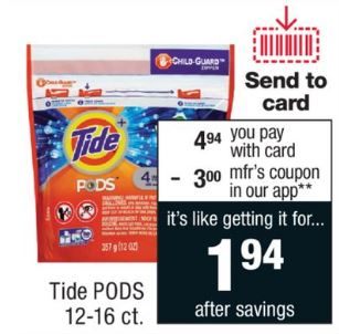 Tide pod coupons 2018