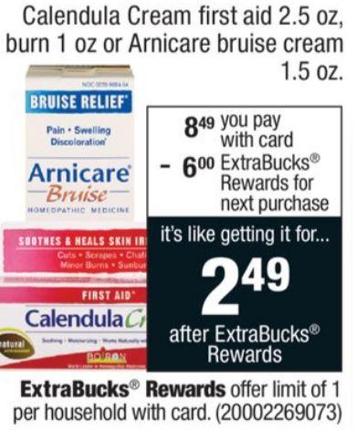 Better than FREE Boiron Calendula First Aid Cream at CVS