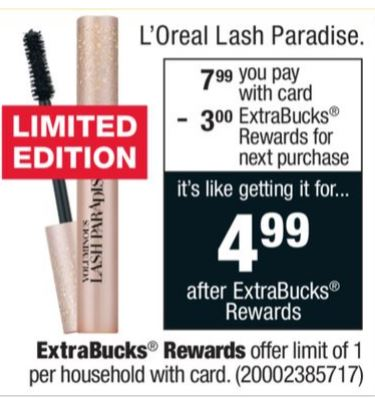 graphic regarding L Oreal Printable Coupons known as Loreal Lash Paradise Mascara Printable discount coupons Frugal Harbor